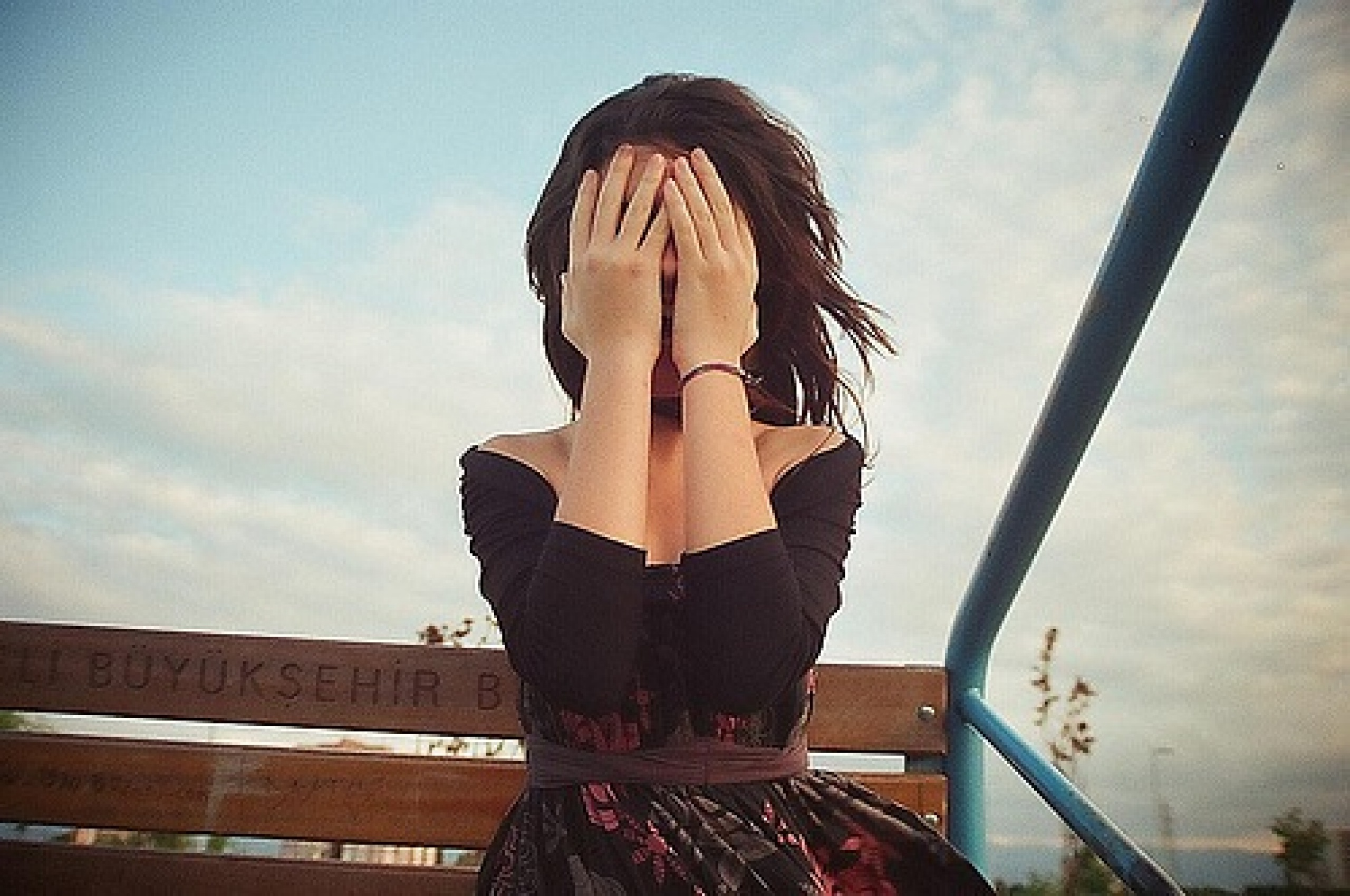 Девушка без лица 21 фотография
